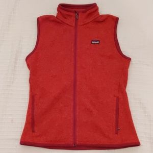 Patagonia Red Knit Fleece-Lined Vest sz M